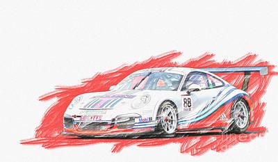 Martini Porsche 911 Gt3 Poster