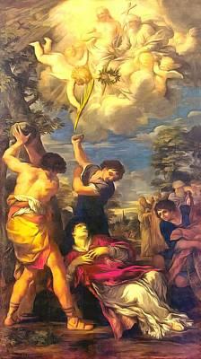Martyrdom Of Saint Stephen Poster by Pietro da Cortona