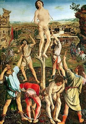 Martyrdom Of St. Sebastian, 1475 Oil On Poplar Poster by Antonio Pollaiuolo