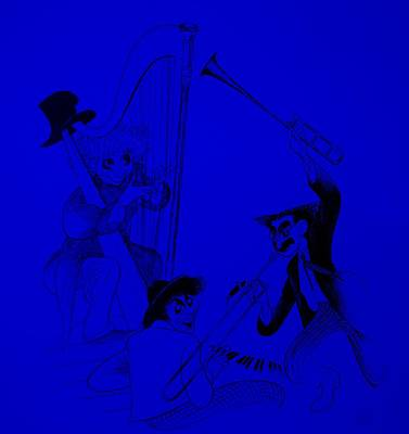 Marx Brothers Blue Poster by Rob Hans