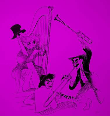 Marx Brothers Purple Poster by Rob Hans