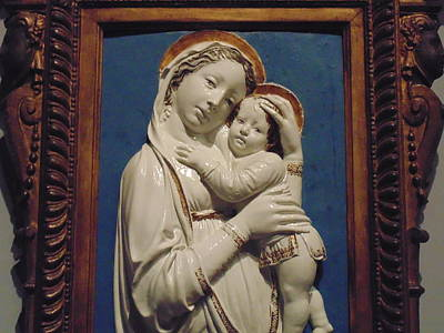 Mary And Baby Jesus Poster by Dotti Hannum