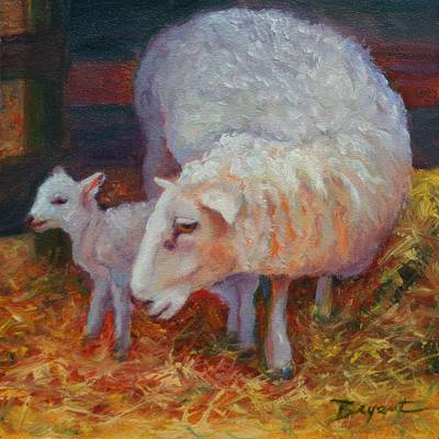 Mary Had A Little Lamb Poster by Debra Bryant