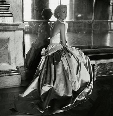 Mary Phipps Wearing A Balmain Dress Poster