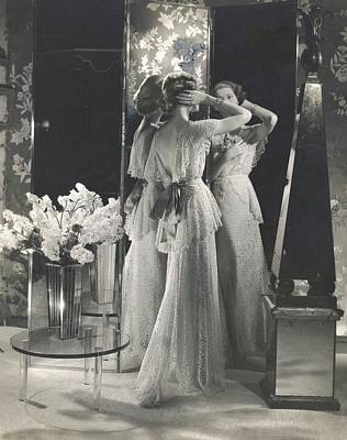 Mary Taylor Wearing A Saks Fifth Avenue Dress Poster