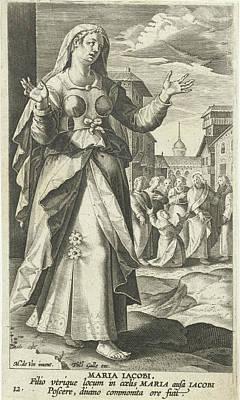 Mary, The Mother Of The Sons Of Zebedee, Karel Van Mallery Poster by Karel Van Mallery And Philips Galle And Cornelis Kiliaan