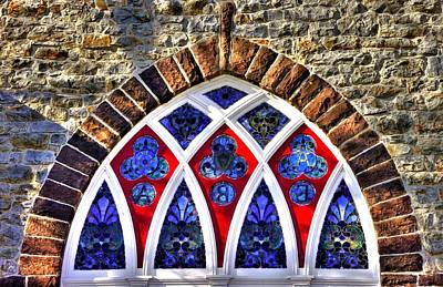 Maryland Country Churches - Saint Anthony Shrine Church Emmitsburg - Stained Glass Exterior Close1 Poster