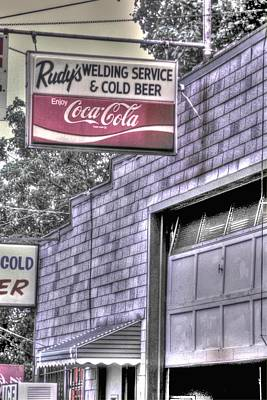 Maryland Country Roads - Some Things Just Go Together No. 1 - Rudys Welding And Cold Beer Poster