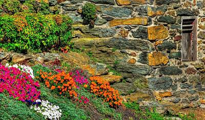 Maryland Country Roads - Walls Of Color Walls Of Stone - Carroll County Maryland Poster