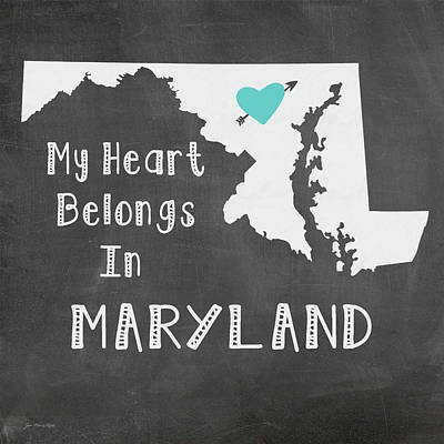 Maryland Poster by Jo Moulton