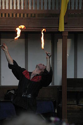 Maryland Renaissance Festival - Johnny Fox Sword Swallower - 1212106 Poster by DC Photographer