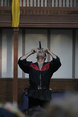 Maryland Renaissance Festival - Johnny Fox Sword Swallower - 1212110 Poster by DC Photographer