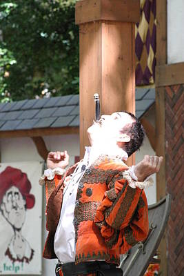 Maryland Renaissance Festival - Johnny Fox Sword Swallower - 121216 Poster