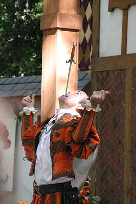 Maryland Renaissance Festival - Johnny Fox Sword Swallower - 121231 Poster