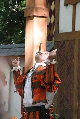 Maryland Renaissance Festival - Johnny Fox Sword Swallower - 121233 Poster by DC Photographer
