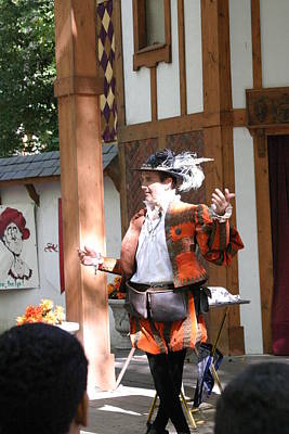 Maryland Renaissance Festival - Johnny Fox Sword Swallower - 12124 Poster