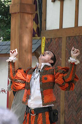 Maryland Renaissance Festival - Johnny Fox Sword Swallower - 121248 Poster by DC Photographer