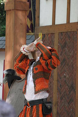 Maryland Renaissance Festival - Johnny Fox Sword Swallower - 121249 Poster by DC Photographer