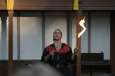 Maryland Renaissance Festival - Johnny Fox Sword Swallower - 121286 Poster by DC Photographer