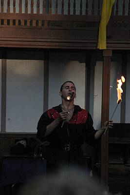 Maryland Renaissance Festival - Johnny Fox Sword Swallower - 121299 Poster by DC Photographer
