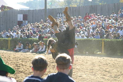 Maryland Renaissance Festival - Jousting And Sword Fighting - 1212112 Poster