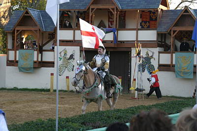 Maryland Renaissance Festival - Jousting And Sword Fighting - 121212 Poster