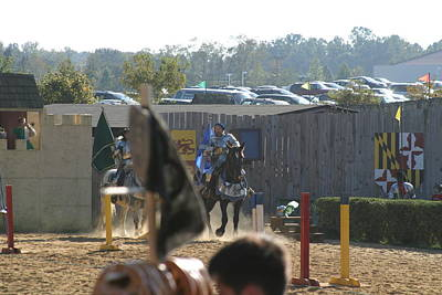 Maryland Renaissance Festival - Jousting And Sword Fighting - 1212124 Poster by DC Photographer