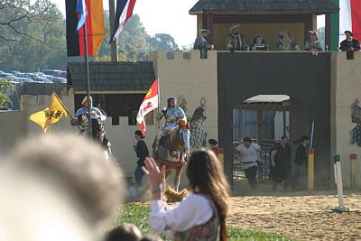 Maryland Renaissance Festival - Jousting And Sword Fighting - 1212125 Poster by DC Photographer