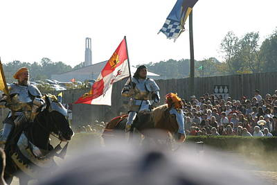 Maryland Renaissance Festival - Jousting And Sword Fighting - 1212128 Poster by DC Photographer