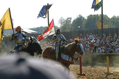 Maryland Renaissance Festival - Jousting And Sword Fighting - 1212129 Poster by DC Photographer