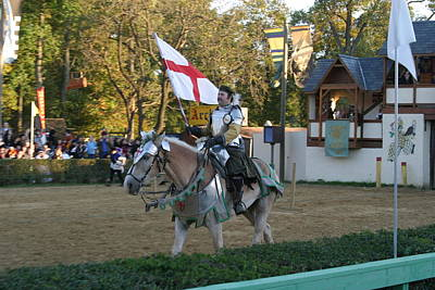 Maryland Renaissance Festival - Jousting And Sword Fighting - 121213 Poster by DC Photographer