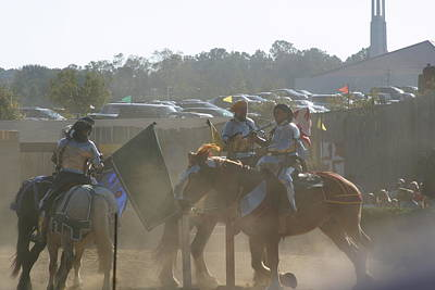 Maryland Renaissance Festival - Jousting And Sword Fighting - 1212140 Poster