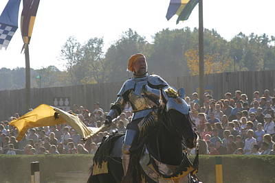 Maryland Renaissance Festival - Jousting And Sword Fighting - 1212142 Poster