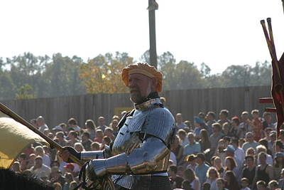Maryland Renaissance Festival - Jousting And Sword Fighting - 1212146 Poster by DC Photographer
