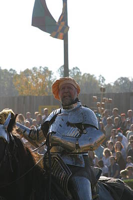 Maryland Renaissance Festival - Jousting And Sword Fighting - 1212147 Poster by DC Photographer