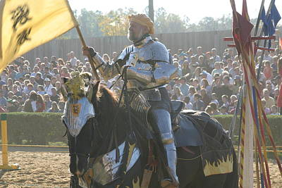 Maryland Renaissance Festival - Jousting And Sword Fighting - 1212148 Poster by DC Photographer