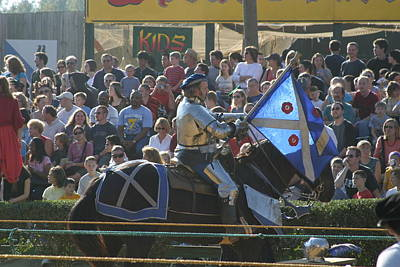 Maryland Renaissance Festival - Jousting And Sword Fighting - 1212152 Poster by DC Photographer
