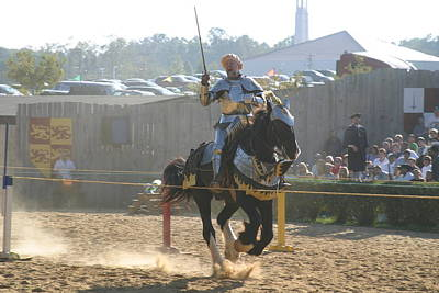 Maryland Renaissance Festival - Jousting And Sword Fighting - 1212154 Poster