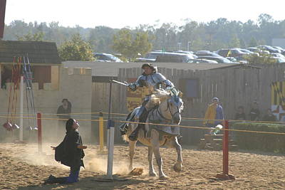 Maryland Renaissance Festival - Jousting And Sword Fighting - 1212156 Poster by DC Photographer