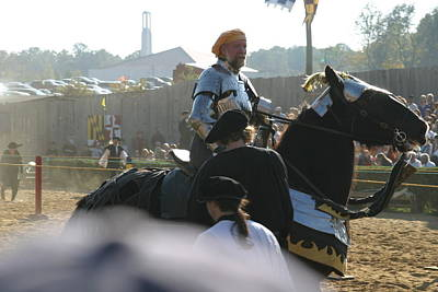 Maryland Renaissance Festival - Jousting And Sword Fighting - 1212164 Poster