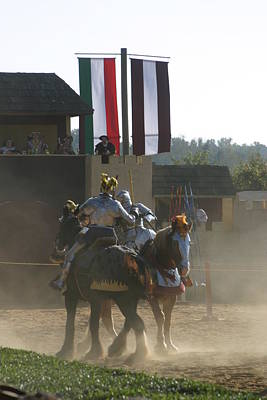 Maryland Renaissance Festival - Jousting And Sword Fighting - 1212176 Poster