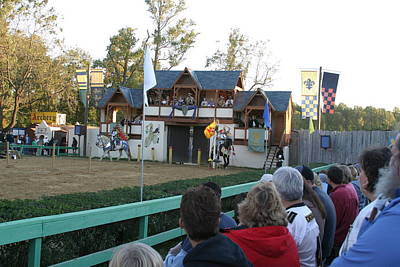 Maryland Renaissance Festival - Jousting And Sword Fighting - 121218 Poster by DC Photographer
