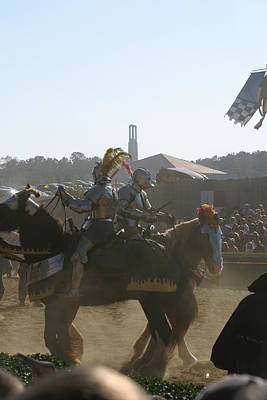 Maryland Renaissance Festival - Jousting And Sword Fighting - 1212184 Poster by DC Photographer