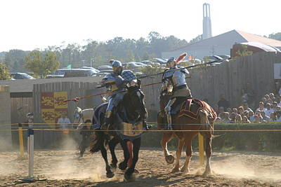 Maryland Renaissance Festival - Jousting And Sword Fighting - 1212188 Poster