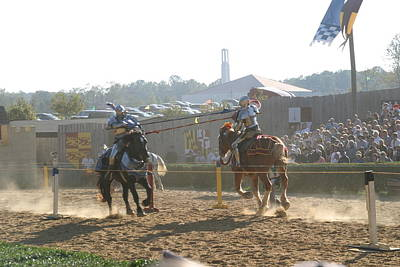 Maryland Renaissance Festival - Jousting And Sword Fighting - 1212192 Poster