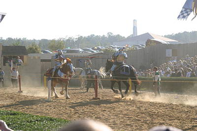 Maryland Renaissance Festival - Jousting And Sword Fighting - 1212194 Poster by DC Photographer