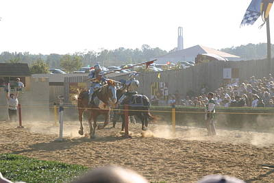 Maryland Renaissance Festival - Jousting And Sword Fighting - 1212195 Poster by DC Photographer