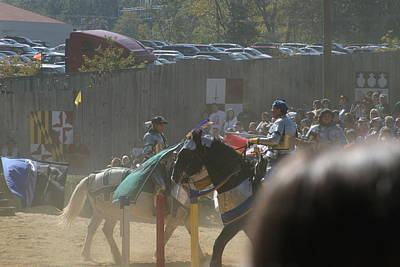 Maryland Renaissance Festival - Jousting And Sword Fighting - 1212202 Poster