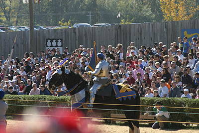 Maryland Renaissance Festival - Jousting And Sword Fighting - 1212210 Poster