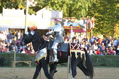 Maryland Renaissance Festival - Jousting And Sword Fighting - 121233 Poster